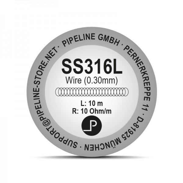 SS316L Edelstahldraht (10 Meter Rolle)