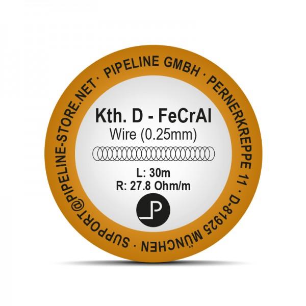 Kth. D Heizdraht - FeCrAl 0,25mm (30 Meter)